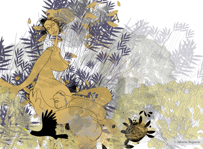 Woman forest, illustrated by Montse Noguera